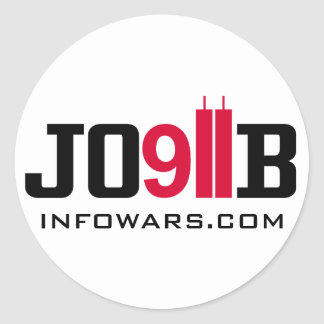 911 INSIDEJOB infowars com Pegatina Redonda