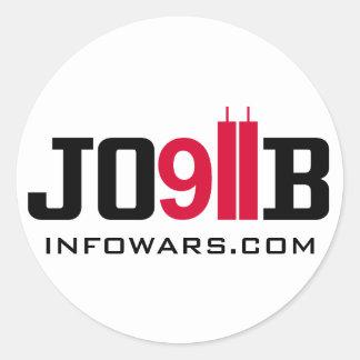 911 INSIDEJOB infowars.com Classic Round Sticker