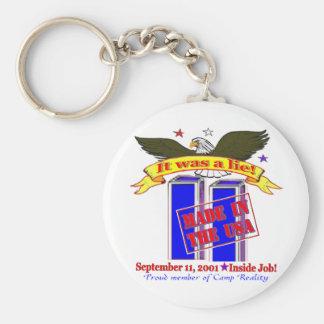 911 Lie Keychain