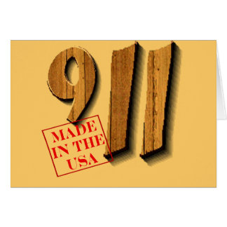 911 Made in USA Greeting Card