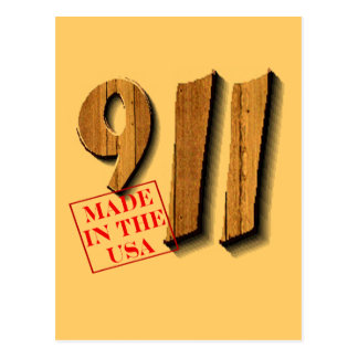 911 Made in USA Postcard