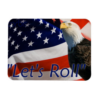 "911 Magnet,Patriotic Legendary Quote, ""Let's Roll"" Magnet"