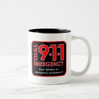 """911"""" marca taza de la emergencia 911"""""""