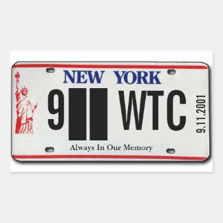 911 Memorial NY License Plate Sticker 2