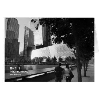 911 Memorial NYC Blank Card BW1