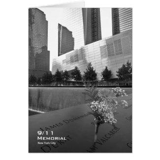 911 Memorial NYC Blank Card BW5