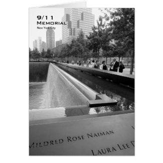 911 Memorial NYC Blank Card BW6