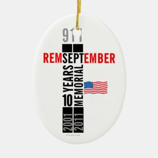 911 Memorial Oval Ornament