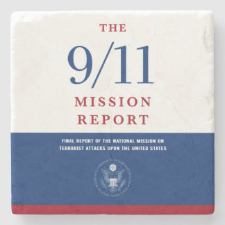 911 Mission Report Stone Coaster