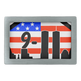 911 never forget rectangular belt buckle