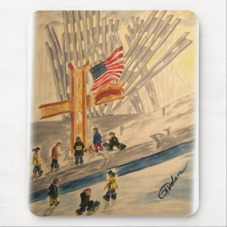 911 New York City Heroes Remembered Mousepad
