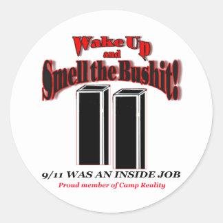 911 pegatinas de Bushit Etiquetas Redondas