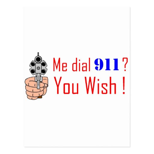 911 que usted desea postal