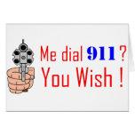 911 que usted desea tarjetas
