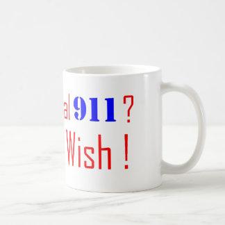 911 que usted desea tazas de café