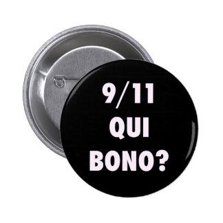 ¿911 Qui Bono? Pin Redondo 5 Cm