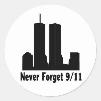 911 recuerde al pegatina