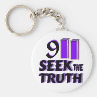 911 Seek the Truth Keychain
