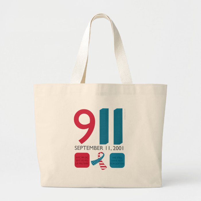911 September 11 Memorial - Never Forget Large Tote Bag
