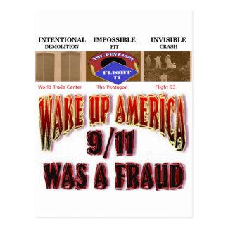 911 tarjetas de la conspiración tarjetas postales
