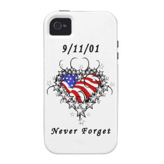 911 Tattoo Never Forget iPhone 4/4S Cases