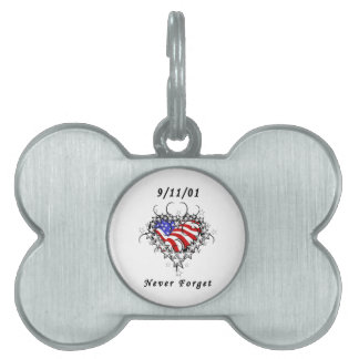 911 Tattoo Never Forget Pet Name Tag