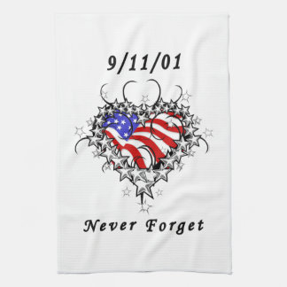 911 Tattoo Never Forget Towel