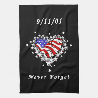 911 Tattoo Never Forget Towels