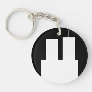 911 towers Double-Sided round acrylic keychain