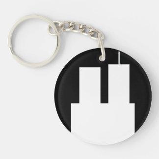 911 towers keychain