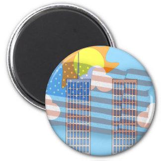 911 Tribute - Plain 2 Inch Round Magnet