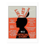 911 Truth Official Story Lies Postcard