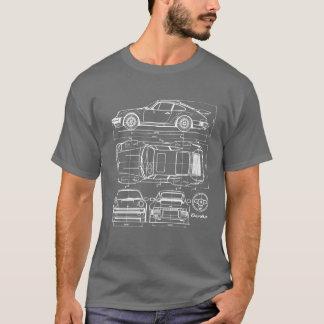 911 Turbo Blueprint T-shirt