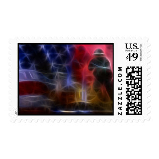 911 Twin Towers Fractal Art Postage