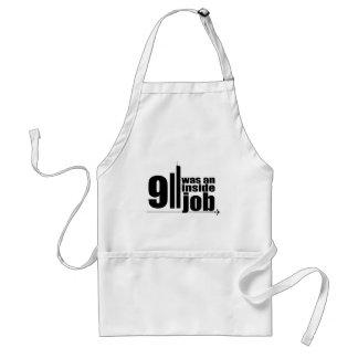 911 was an inside job adult apron
