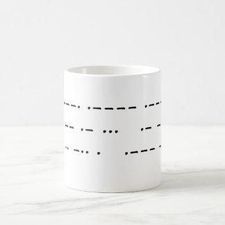 911 was an inside job (morse code) classic white coffee mug