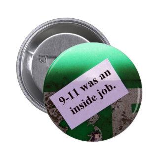 911 was an inside job pinback button