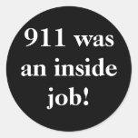 911 was an inside job! sticker