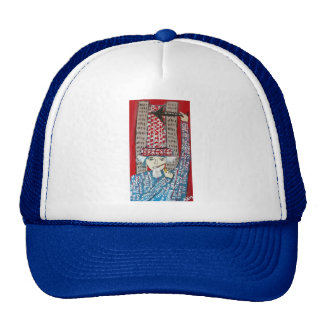 911 WAS FIXED RED MESH HATS