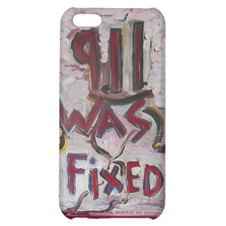 911 WAS FIXED WHITE COVER FOR iPhone 5C