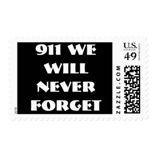 911 WE WILL NEVER FORGET BY WASTELANDMUSIC.COM STAMP