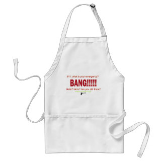 911, what is your emergency? aprons