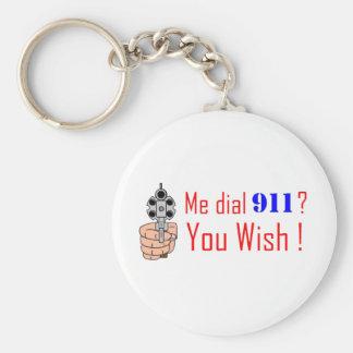 911 you wish keychain