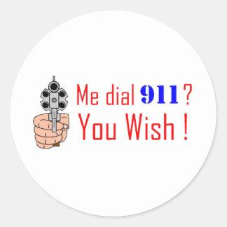 911 you wish stickers
