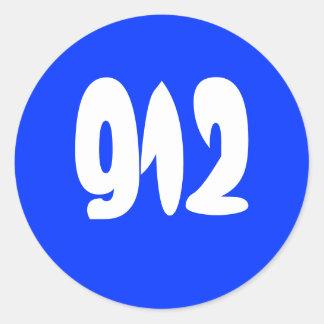 912 PEGATINA REDONDA