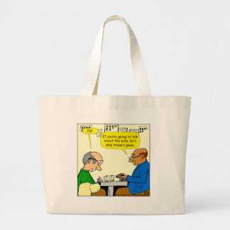 912 talk about the kids carton large tote bag