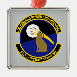 912th Aircraft Maintenance Squadron Metal Ornament