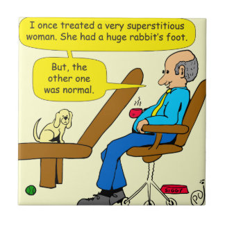 914 rabbits foot psychology cartoon tile