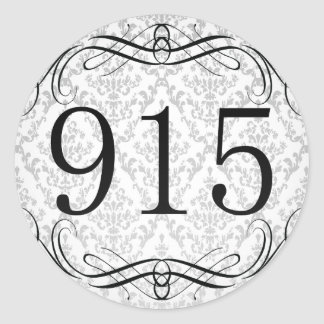 915 Area Code Classic Round Sticker