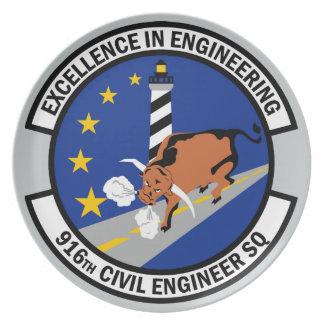 916th Civil Engineer Squadron Melamine Plate